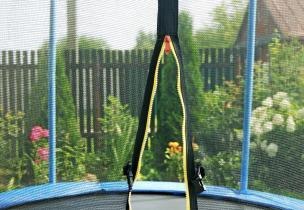 Image of open trampoline net. Trampoline safety, Paediatric Orthopaedics.